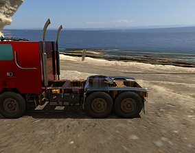 3D asset realtime flat nose truck
