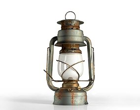 Vintage Oil Lamp 3D model