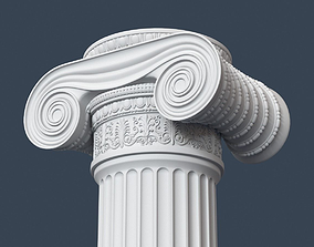3D Ionic Column 001