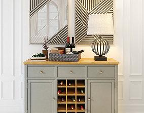 3D model Wine cabinet Jules Verne