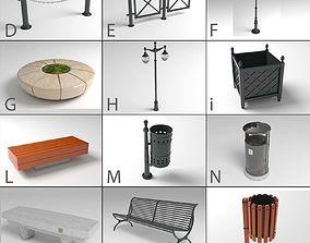 Echise Bruno - Street Furniture pack 3D