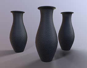 Two-tone modern vase 3D asset