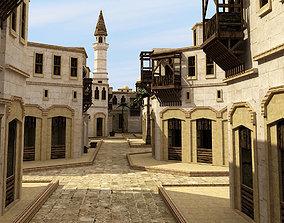 Arabic city 3D asset