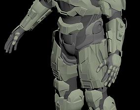 3D model Halo 4 Master Chief