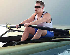 Henry 10775 - Rowing Athlete 3D