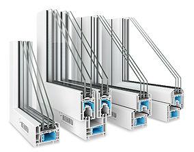 4 Rehau Window profiles 3D model