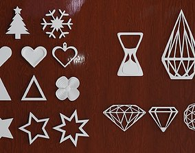 3D print model Pendants for Earrings and Necklaces