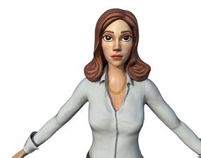 Professional Girl 3D model