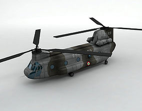 CH47 Chinook Helicopter Italian Army 3D model