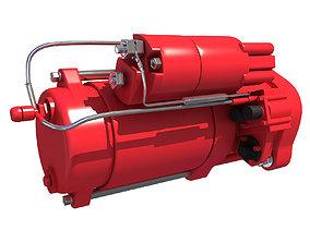 Red Starter Motor 67 3D model