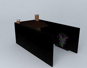 barbecue area 3D model