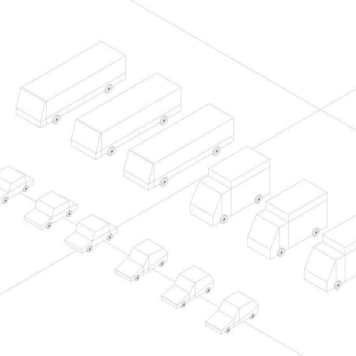 Cartoon Low Poly City Cars model