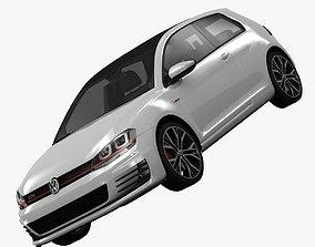 3D model Volkswagen Golf 7 GTI 3-Door 2014