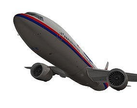 3D Boeing 777-200ER Malaysia Airlines