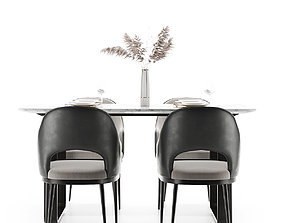 furniture Modern dining table and chair 3D model