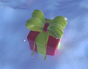 Gift plus snow 3D model