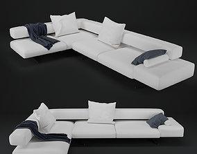 3D Wing Corner Sofa