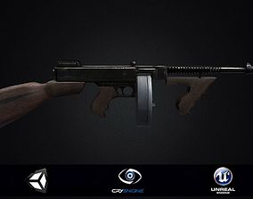 3D model Thompson Submachine Gun PBR
