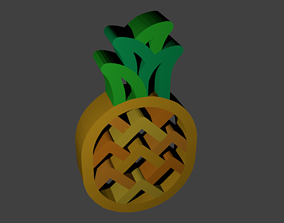 A 3D Pineapple Logo rigged