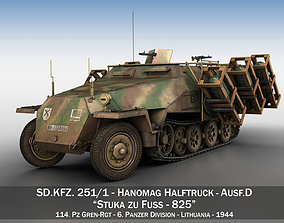 3D SDKFZ 251 - Ausf D - Stuka zu Fuss - 825