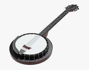 Banjo stringed musical instrument 3D model