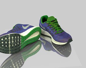 Pair of sneakers 3D model game-ready