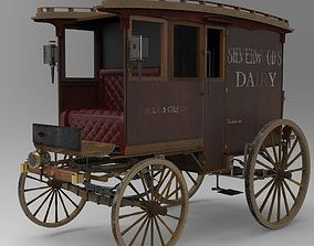3D model Commercial Horse-Drawn Wagon