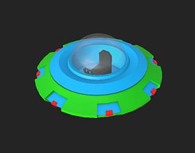game-ready Alien Spaceship 3D Model