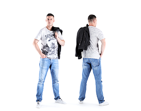 Man casual style 03 3D asset