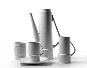 Silhouette Coffee Set 3D