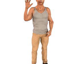 Famous Actor LL Cool J Rigged Character Model animated