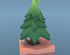 3D asset Low Poly Tree - The Fir Tree