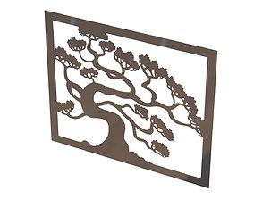 Tree wall decoration 3D print model