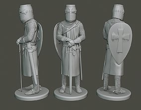 3D printable model Knight Templar Stand T1