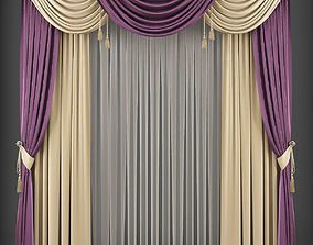Curtain 3D model 206 game-ready