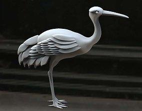 3D model stork
