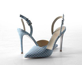 3D model Pyramid Pointed High Heels