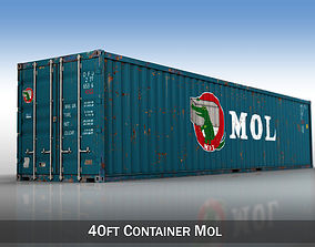 3D 40ft Shipping Container - MOL