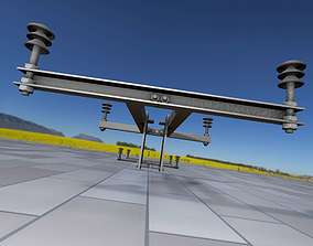 3D model Electricity Poles Insulators 4 - Object 106