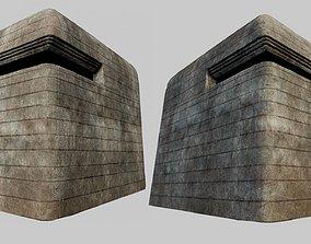 Concrete Bunker 01 PBR 3D model VR / AR ready