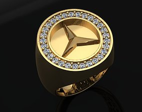 benz men ring 01 No 3D printable model sterling