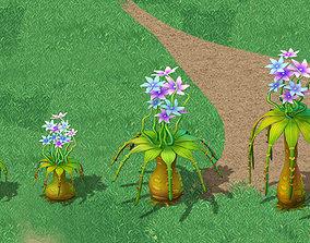 3D Cartoon version - braid flower ganoderma