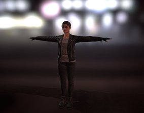 3D model PBR Game-ready Female Character