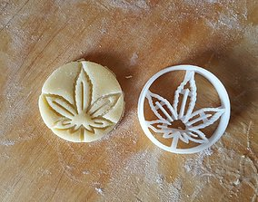 Cannabis leaf cookie cutter 3D printable model