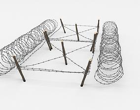 blender 3D Barb Wire Obstacle