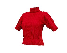 3D Knit Pull Top