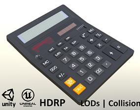 Calculator - Unity - HDRP - UE4 3D model