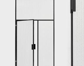 3D asset Glass partition door 99