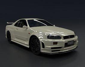 Nissan Skyline GT-R R34 1999 3D model