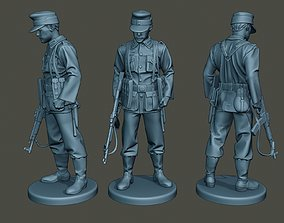 German soldier ww2 Looking Down G3 3D print model
